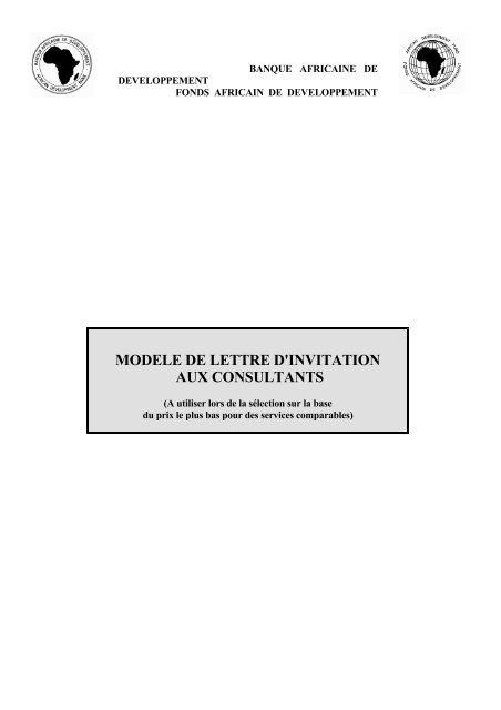 Modele De Lettre D Invitation Aux Consultants