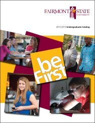 2012-2013 Undergraduate Catalog - Fairmont State University