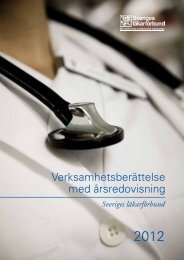 Verksamhetsberättelse 2012 - Sveriges läkarförbund
