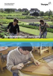Berufswahl-Planer 2011/2012 - Jugendelektronikzentrum St. Gallen