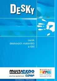 ceník deskových materiálů a fólií - Prodes