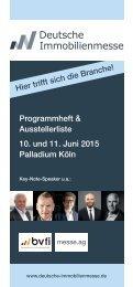 Deutsche Immobilienmesse 2015 - Programmheft & Ausstellerliste