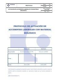 protocolo de actuación en accidentes laborales con material biológico