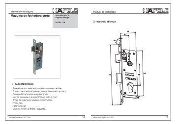 Máquina de fechadura curta - Häfele