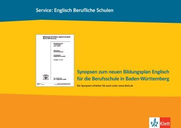 Milestones Reihe Synopsen zum neuen Englisch ... - Ernst Klett Verlag