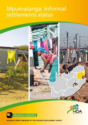 Mpumalanga: Informal settlements status - Housing Development ...
