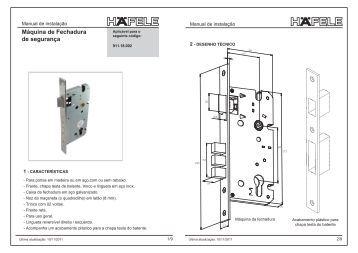 Máquina de fechadura de segurança com lingueta ... - Häfele