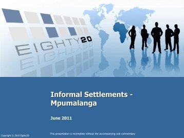 Informal settlements data - Mpumalanga - Housing Development ...