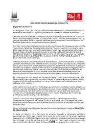Texto da moción - Grupo municipal dos socialistas de Santiago