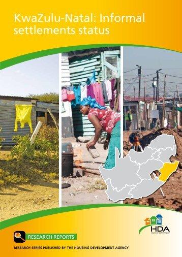 KwaZulu-Natal: Informal settlements status - Housing Development ...