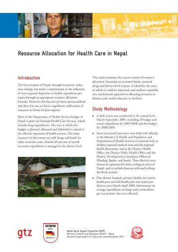 health care resource allocation J7ournalof medical ethics 1994 20: 71-74 the ethics of allocation of scarce  health care resources: a view from the centre k c calman chiefmedical officer,.
