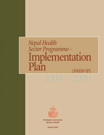 Nepal Health Sector Programme - - Ministerial Leadership Initiative ...