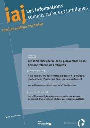 IAJ janvier 2011 et index thématique - Syndicat National des ...