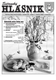 Súčanský hlásnik 2002 číslo 1 (pdf) - Horná Súča