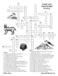 Exploring Nature's Multiple Choice Quizzes • Animal Diet