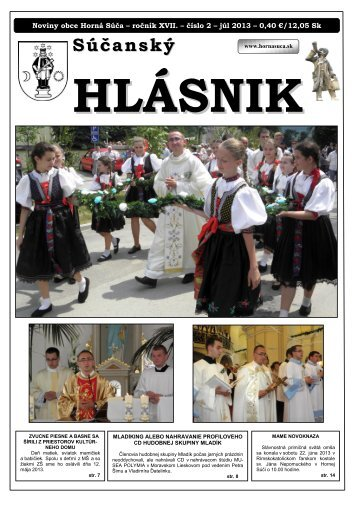 Súčanský hlásnik 2013 číslo 2.pdf - Horná Súča