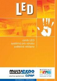ceník LED systémů pro výrobu světelné reklamy - Prodes