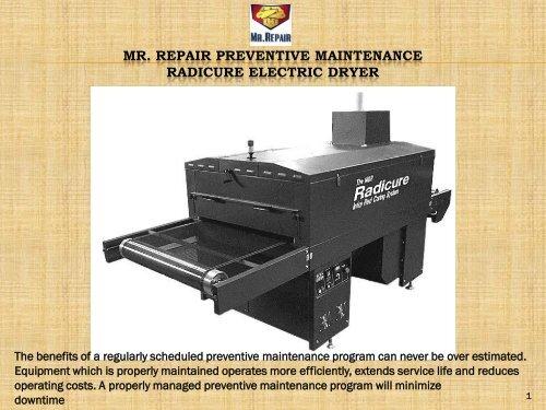 Mr  Repair Radicure Dryer PM pdf
