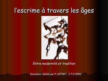L'escrime à travers les âges - Fédération Française d'Escrime