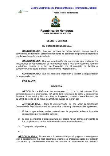 Republica de Honduras - Poder Judicial