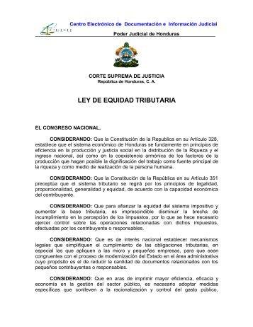 LEY DE EQUIDAD TRIBUTARIA REFORMADA.pdf - Poder Judicial