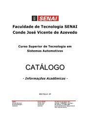 Catalogo Curso Superior Tecnologia em Sistemas ... - Senai