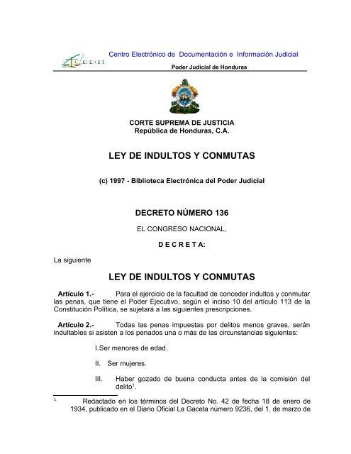 ley de indultos y conmutas - Poder Judicial