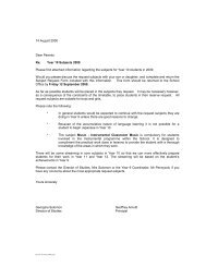 Year 10 Subjects 2009 Please find attached information regarding ...