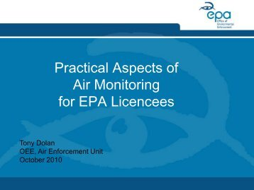 Irish EPA air monitoring guidance note #2