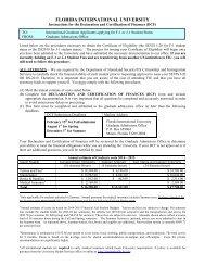 Declaration and Certification of Finances - University Graduate School