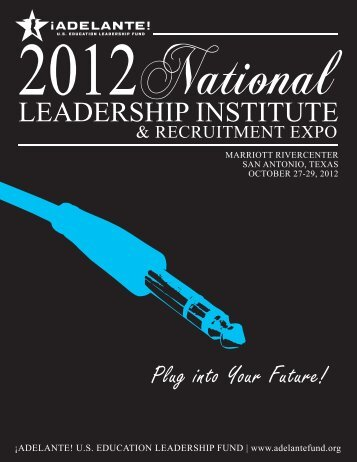 Adelante 2012 Leadership Institute with Exhibitor Application