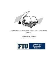 etd preparation manual - University Graduate School - Florida ...