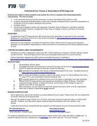 Final ETD Approval Form - University Graduate School - Florida ...