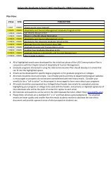 Communication Plan Portfolio - University Graduate School - Florida ...