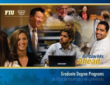 Graduate Program Brochure - University Graduate School - Florida ...