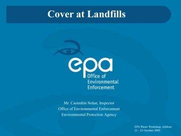 Cover at Landfills