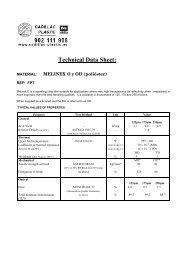 Technical Data Sheet: - Cadillac Plastic