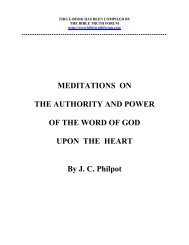 Authority and Power of the Word of God - Grace-eBooks.com