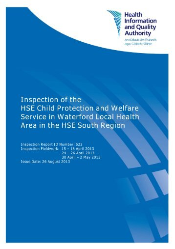 Inspection of the HSE Child Protection and Welfare Service ... - hiqa.ie