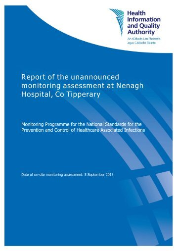 Report of the unannounced monitoring assessment at Nenagh ...