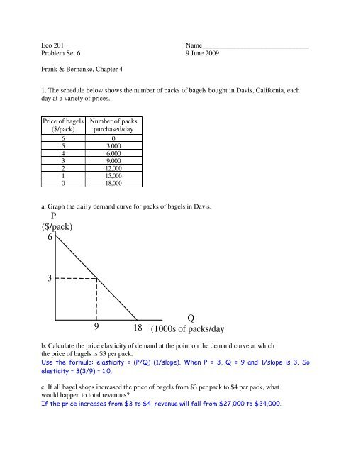 Answers to Problem Set 6