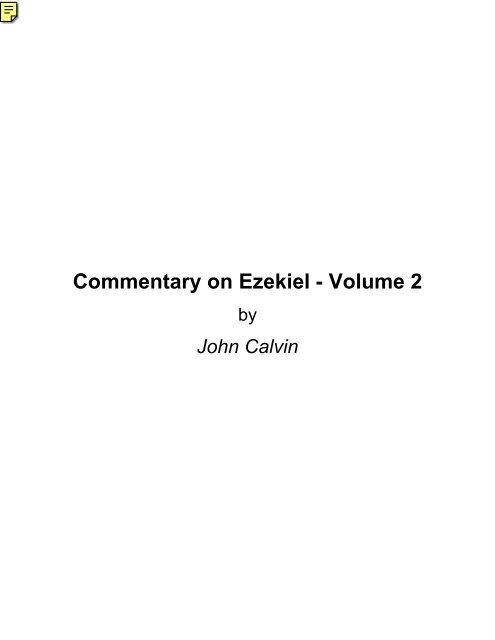 mentary on Ezekiel Vol 2 Grace eBooks
