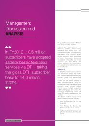 Management Discussion and Analysis PDF - Zee Television