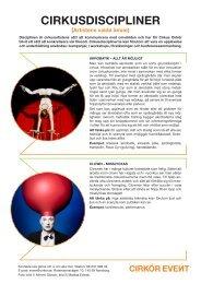 Disciplinen på eventet - Cirkus Cirkör