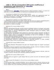 Legea nr 593 din 15 decembrie 2004 pentru