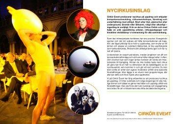 Inspiration till eventet - Cirkus Cirkör