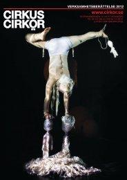 Verksamhetsberättelse 2012 - Cirkus Cirkör