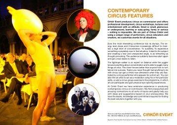 Inspiration to your event - Cirkus Cirkör