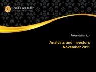 Analysts and Investors November 2011 - Tsogo Sun
