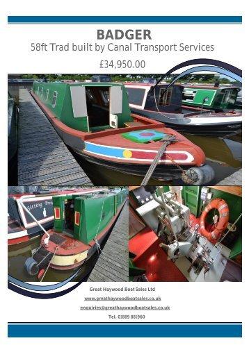 Badger Brochure Main Page.pdf - Great Haywood Boat Sales